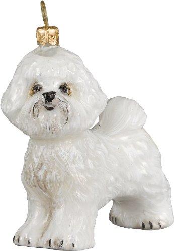 Joy to the World Collectibles European Blown Glass Pet Ornament, Bichon Frise