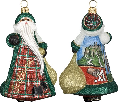 Glitterazzi International Santa Scottish Santa Ornament