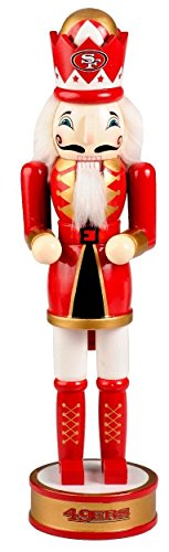 San Francisco 49ers Official NFL 14 inch 14″ Christmas Holiday Nutcracker