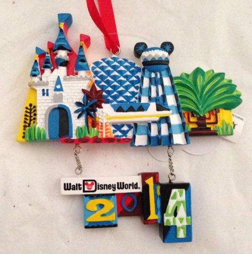 Walt Disney World 2014 Park Icon Ornament NEW