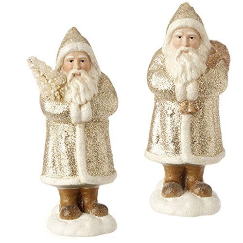 RAZ Imports – 6″ Santa Ornaments – Set of 2