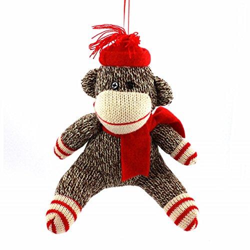Holiday Lane Sock Monkey 9″ Holiday Christmas Ornament