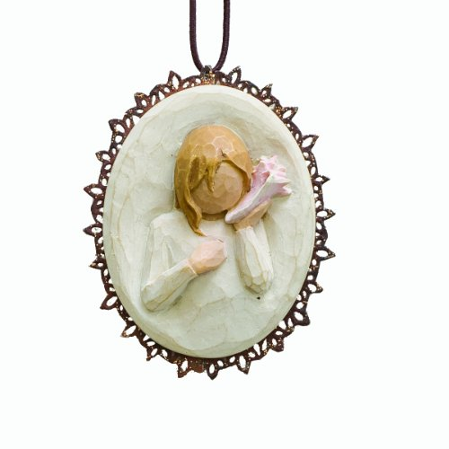 Willow Tree Thinking of You Metal Edged Ornament by Susan Lordi