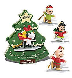 Collectible SnoopyTM Ornaments with Peanut Butter Cups Stocking Stuffer Gift Set