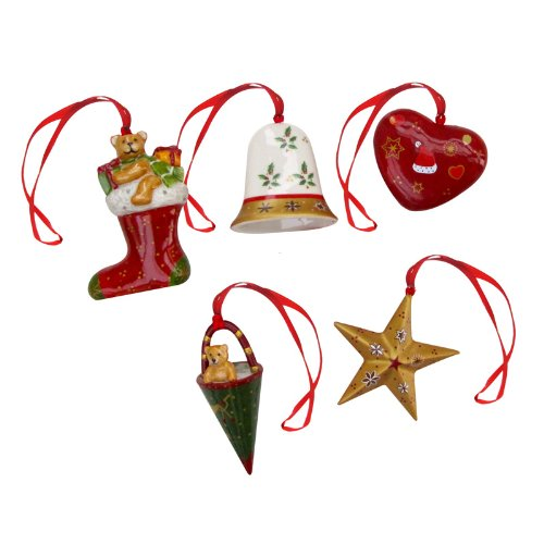 Villeroy & Boch Nostalgic Ornaments Christmas Set Of 5