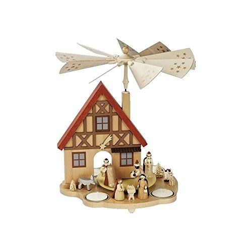 Alexander Taron Richard Glaesser Pyramid – Nativity Scene – 10.5″H x 10″W x 10″D