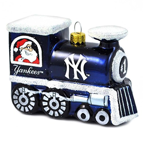 MLB New York Yankees Blown Glass Train Ornament