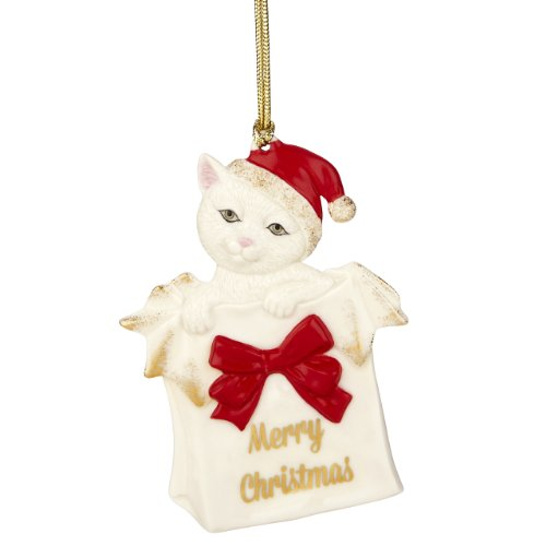 Lenox Merry Christmas Kitty Ornament