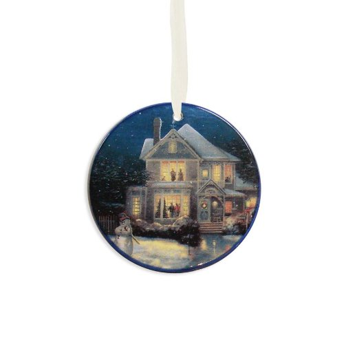 Enesco Thomas Kincade Painter of Light Holiday Cheer Ornament, 3.5-Inch