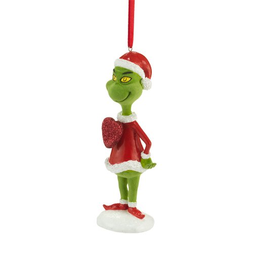 Department 56 Grinch Big Hearted Grinch Ornament, 5-Inch