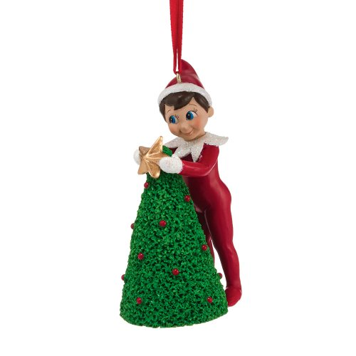 Department 56 Elf on The Shelf Elf Decorating Tree Ornament, 4.02-Inch