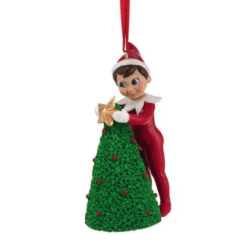Department 56 Elf on The Shelf Elf Decorating Tree Ornament, 4.02-Inch