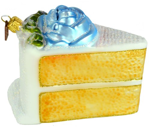 Eric Cortina Blue Birthday Cake Ornament