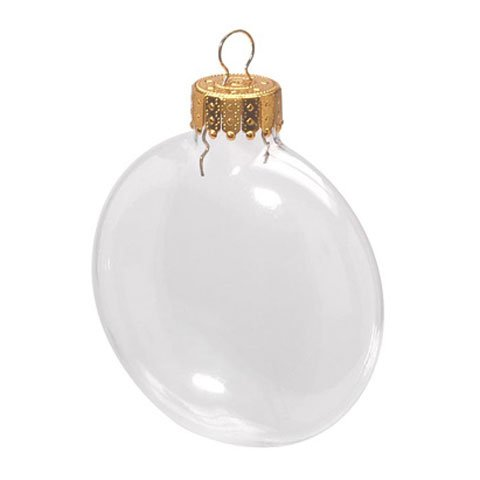 66mm Glass Disc Ornaments – Pack of 6
