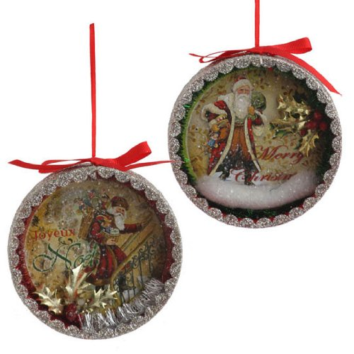 RAZ Imports – Vintage Shadow Box Ornaments