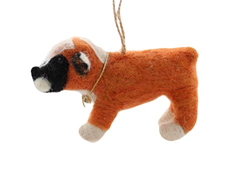 Cody Foster Felt Dog Shaped Ornament – Boxer Dog