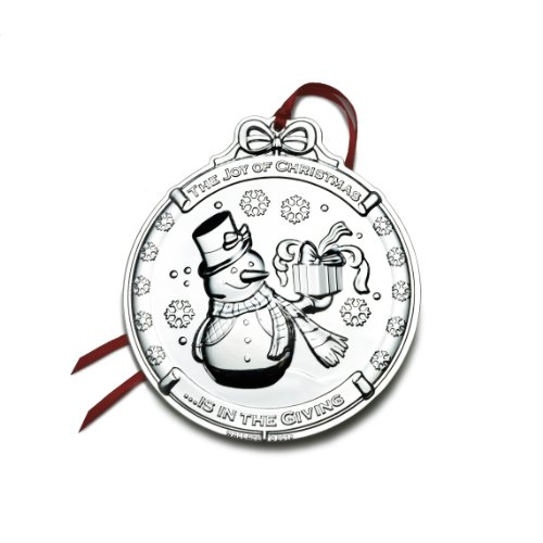 Wallace 2012 Silver Plated Snowman Ornament, 1st Edition