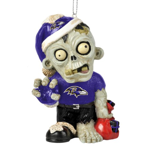 NFL 2014 Zombie Christmas Hanging Ornament 4″ (Baltimore Ravens)