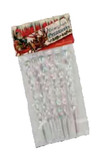 Bethany Lowe – Christmas – Set of 6 Clear Icicle Ornaments – LG2075