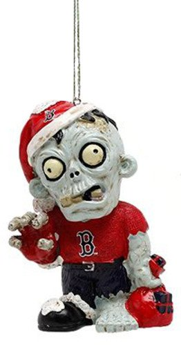Boston Red Sox MLB Baseball Zombie Christmas Ornament