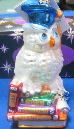 Christopher Radko Graduation Owl Christmas Ornament