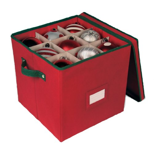 Holiday Storage 64 Compartment Ornament Chest with Dividers
