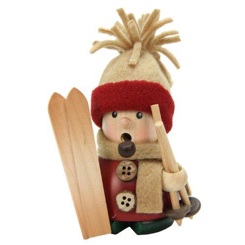 Christian Ulbricht Incense Burner – Skier – 4.5H x 3W x 2.5D