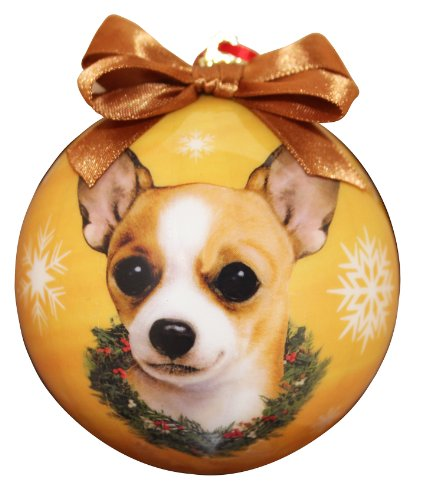Chihuahua Christmas Ornament Shatter Proof Ball Easy To Personalize A Perfect Gift For Chihuahua Lovers