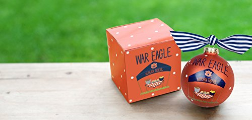 Coton Colors Auburn Alabama (Au) Tailgate Season Ornament. A Spirited Reflection of Gameday Traditions, Auburn Fans Showcase College Colors with This Auburn Tailgate Ornament. Kickoff the Season with Much War Eagle Style. Ideal for Fans of All Ages Love, It's Perfect for Year-round Décor When Displayed on Our Ornament Stand At Home, At the Office or in the Dorm. Adorned with Ribbon. Comes Packaged in a Coordinating Gift Box for Perfect Present Presentation.