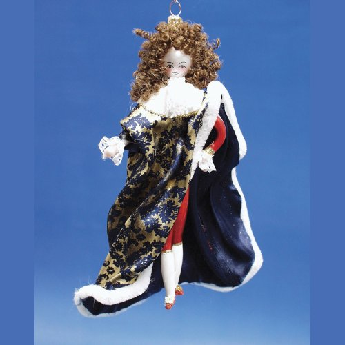De Carlini Louis XIV Italian Glass Christmas Ornament
