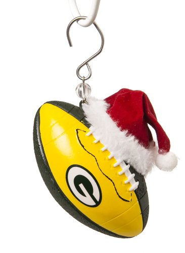 Green Bay Packers Football Christmas Ornament