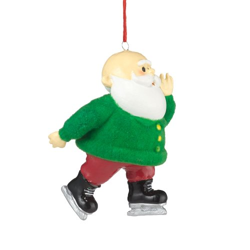 Department 56 Rudolph Santa on Skates Ornament, 2.25-Inch