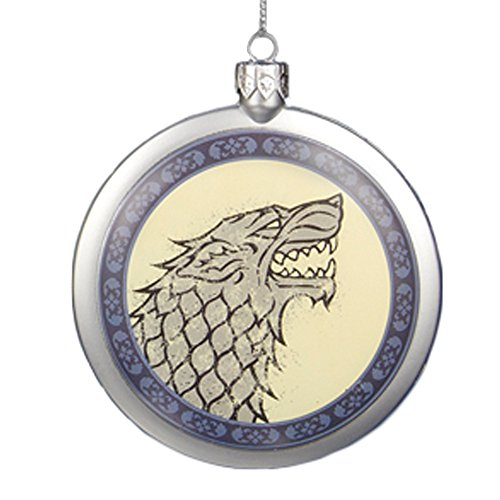 Game of Thrones House Stark Direwolf Blow Mold Christmas Ornament