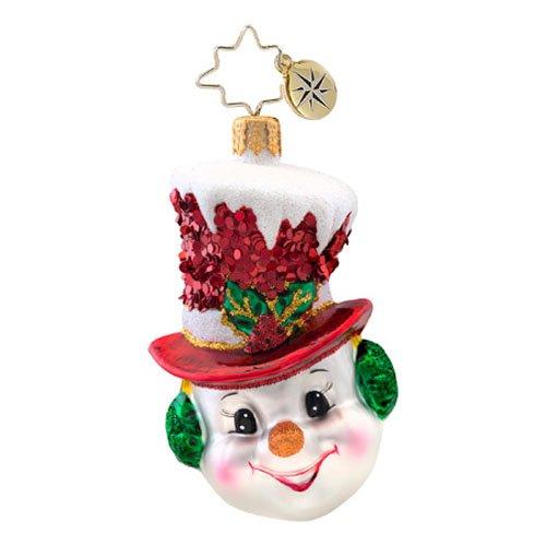 Christopher Radko Snow Chapeau Gem Ornament 2014