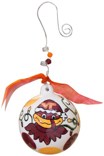 Glory Haus Virginia Tech Ball Ornament, 4 by 4-Inch
