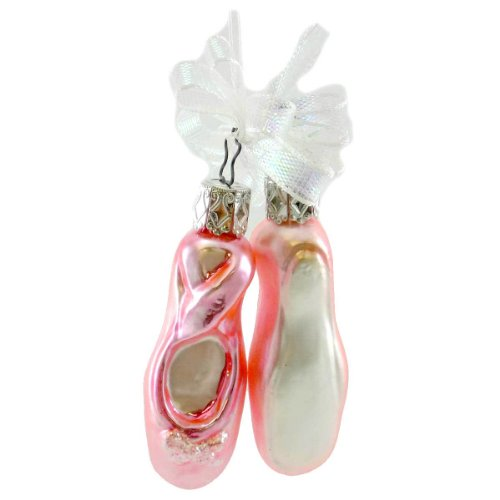 Inge Glas SIMPLY PINK SLIPPERS 157801 Ornament Ballet Dance Shoes New