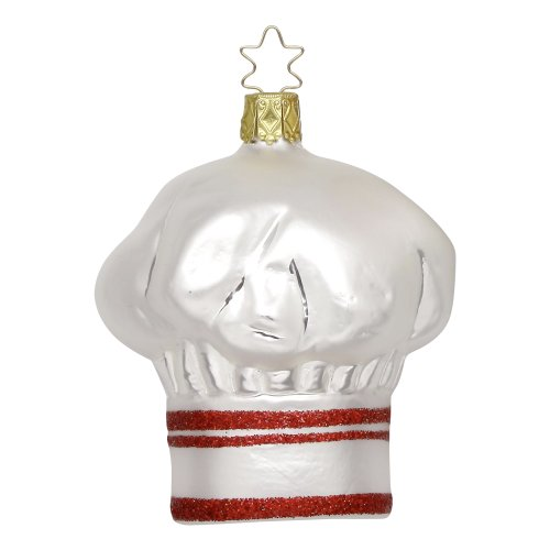"""Chef's Hat"" Christmas Ornament by Inge-Glas of Germany 113213"