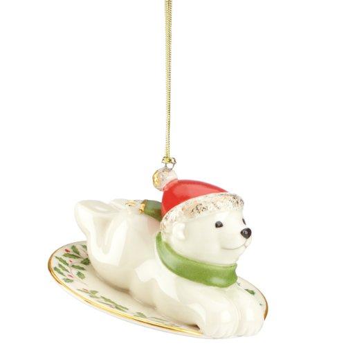 Lenox Holiday Polar Bear Express Ornament
