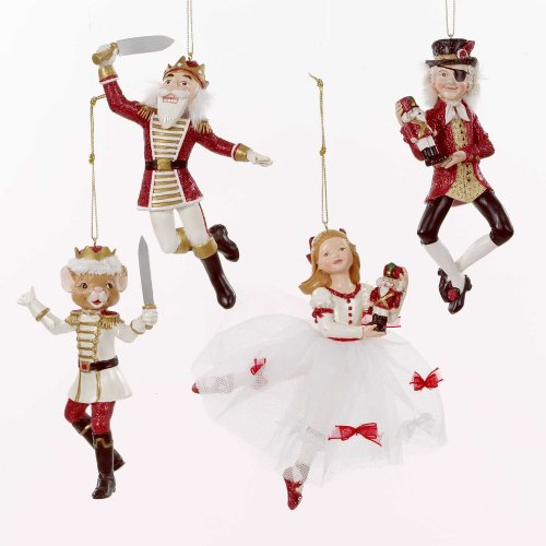 Kurt Adler Polyresin Nutcracker Suite Ornament Set of 4