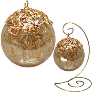 Jay Strongwater Golden Glass Ornament Lg