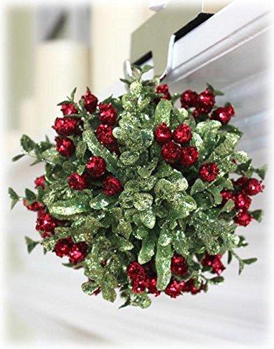 Mistletoe Kiss Ball Ornament