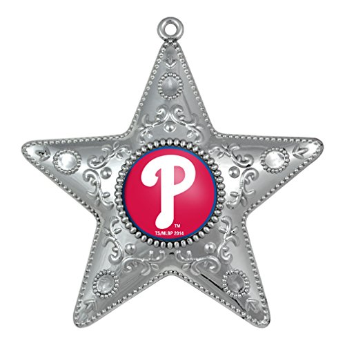 Philadelphia Phillies – MLB Official 4.5″ Silver Star Ornament