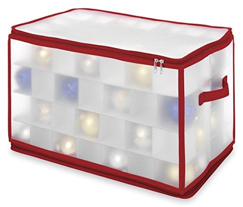 Whitmor 6129-5353 Christmas Ornament Gift Cube Case, Large
