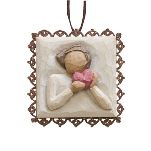 Willow Tree From The Heart Metal Edged Ornament by Susan Lordi