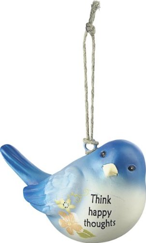 Think Happy Thoughts – Blue Bird Of Happiness Ornament by Ganz