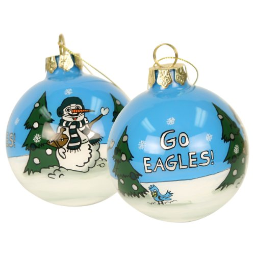 Blown Glass Hand Painted Sports Christmas Ornaments – Philadelphia Eagles