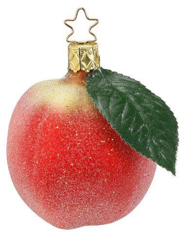 Inge-Glas Frosted Apple Christmas Ornament