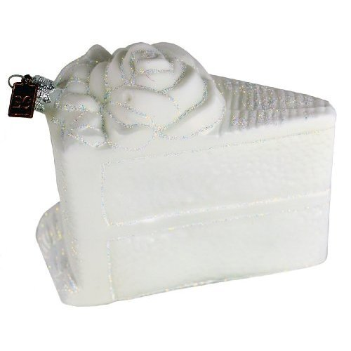 Eric Cortina White Wedding Cake Ornament