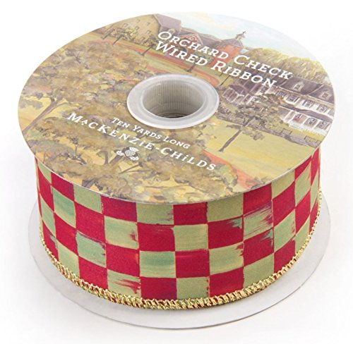 MacKenzie-Childs Orchard Check Ribbon 2″