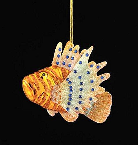Kurt Adler 3.75″ Noble Gems Glass Lion Fish Ornament